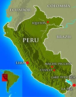 Peru-Landkarte